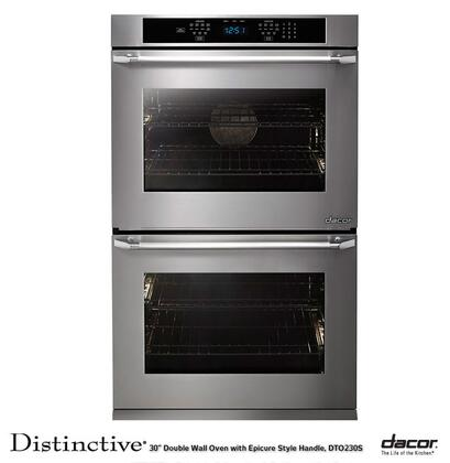 """Dacor DTO227FS 27"""" Flush Stainless Steel Double Wall Oven"""
