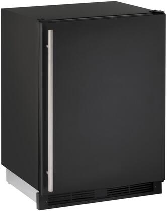 "U-Line U1224Rx00B 24"" Energy Star Rated 1000 Series Built-In Compact Refrigerator with 5.2 cu. ft. Capacity, LED Lighting, 3 Tempered Glass Shelves, and Digital Touch Pad Control, in"