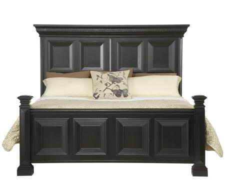 Pulaski 9931 Brookfield Panel Bed with Bolt-On Bedrail System, Rub Thru Transparency, Birch Solids and Veneers in Black