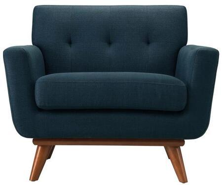 EdgeMod EM227WALMBLU Mari Series Polyester Lounge with Wood Frame in Marine Blue