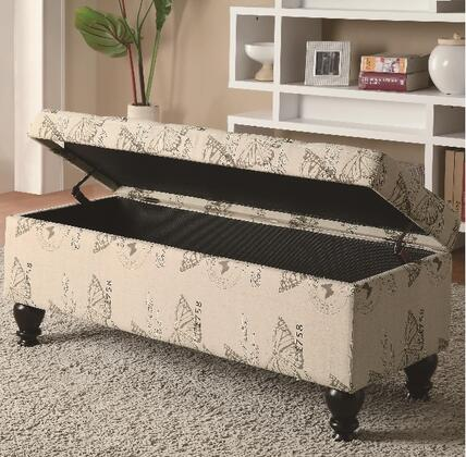 Coaster 500985 Benches Series Storage  Fabric Bench