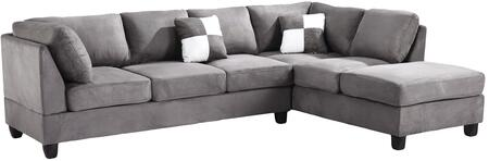 Glory Furniture G633BSC G630 Series Stationary Suede Sofa