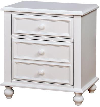 Furniture of America CM7155WHN Olivia Series  Night Stand