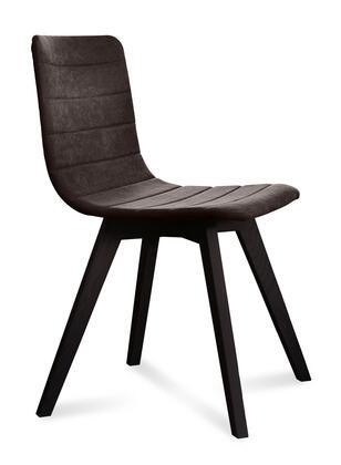 Domitalia FLEXAS0KSLAS8IW Flexa Series Contemporary Fabric Wood Frame Dining Room Chair