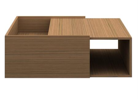 Argo Furniture CP1107IK02MP Timber Series Contemporary Wood Square None Drawers End Table