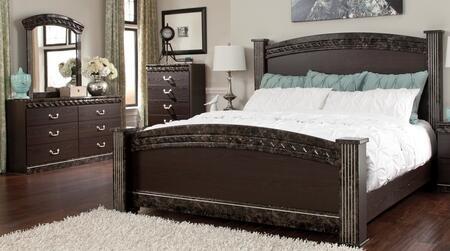 Milo Italia BR387KPSBDM Carson King Bedroom Sets