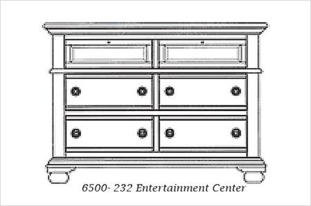 American Woodcrafters 65X0232 Entertainment Chest