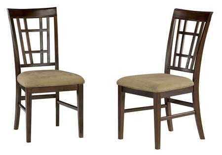 Atlantic Furniture MONTEGOBAYOCDC Montego Bay Collection Set of 2 Oatmeal Seat Cushion Dining Chairs: