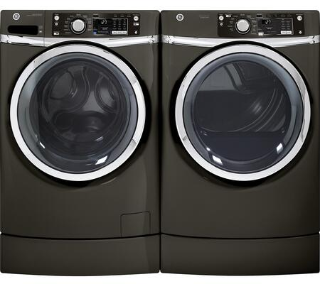 GE GFWR2705HMCPAIR1 RIGHTHEIGHT Washer and Dryer Combos