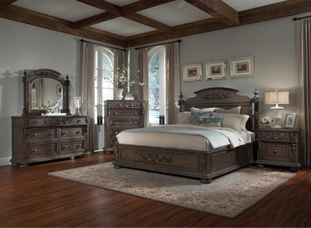 Klaussner 980CKPBDM2NC Versailles California King Bedroom Se