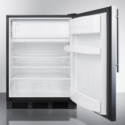 """AccuCold CT66BBIx 24"""" CT66JBI Series Medical Freestanding or Built In Compact Refrigerator with 5.1 cu. ft. Capacity, Adjustable Glass Shelves, Crisper, Interior Lighting and Zero-Degree Freezer Compartment:"""