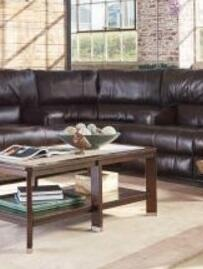 Catnapper 4588128309308309 Wembley Series Leather with Metal Frame in Chocolate