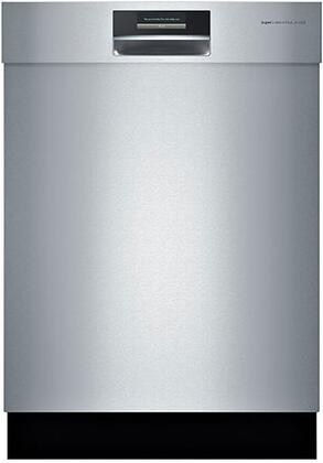 """Bosch Benchmark SHExPT55UC 24"""" Built-in Dishwasher with Recessed Handle, SteelTouch Control Panel, Delay Start, Flexible Silverware Basket and Recess Handle in Stainless Steel"""
