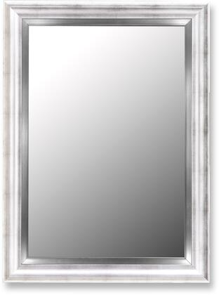 Hitchcock Butterfield 20810X Cameo Petite Beveled Mirror in Torino Silver with Stainless Liner