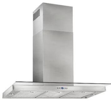 """Best WC44 36"""" Dovere Wall Mount Chimney Hood with Heat Sentry, Stainless Steel Mesh Grease Filters, Delay Off, Filter Clean Reminder, and 2 LED Lights: Stainless Steel"""
