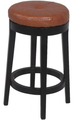 Chintaly 0299CSCML Residential Bonded Leather Upholstered Bar Stool