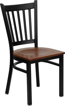 """Flash Furniture HERCULES Series XU-DG-6Q2B-VRT-XXW-GG 18.5"""" Heavy Duty Vertical Back Metal Restaurant Chair with Wood Seat, Commercial Design, 18 Gauge Steel Frame, and Welded Joint Assembly"""