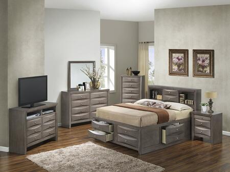 Glory Furniture G1505GKSB3CHDMNTV2 G1505 King Bedroom Sets