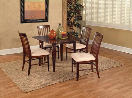 "Atlantic Furniture MONTREAL4278BTDT Montreal Collection 42x78 Butterfly Top Dining Table (Includes 18"" Leaf):"
