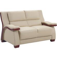 Global Furniture USA A167L Leather  with Wood Frame Loveseat