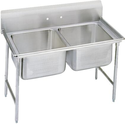 Two Compartment, No Drainboard