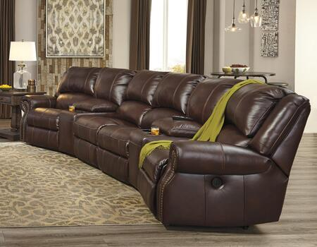Signature Design by Ashley U72100622746462758 Collinsville Series Reclining Leather Sofa