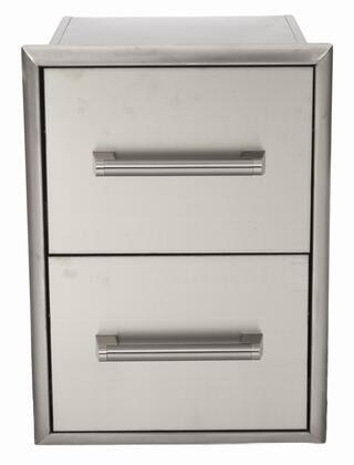 Coyote CDC Drawer Cabinet with Premium Stainless Steel Construction, Professional-Style Handle, Extended Drawers, Rigid Construction, Large Storage Space within Each Drawer, and Beveled Trim Kit in Stainless