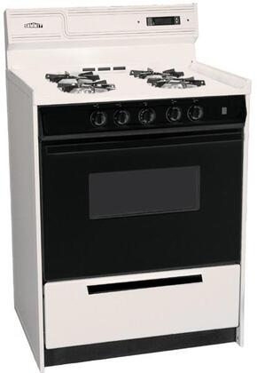 Summit SLM6307CDK  Liquid Propane Freestanding Range with Open Burner Cooktop, 2.92 cu. ft. Primary Oven Capacity, Broiler in Bisque