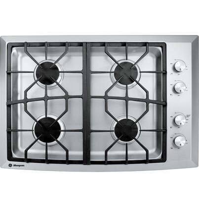GE Monogram ZGU384LSMSS Monogram Series Liquid Propane Sealed Burner Style Cooktop, in Stainless Steel