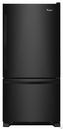 "Whirlpool WRB329DMBB 30""  Bottom Freezer Refrigerator with 18.7 cu.ft. Capacity in Black"