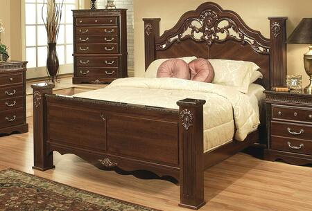 Sandberg 341C Alexandria Series  King Size Poster Bed