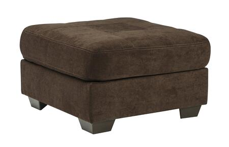 Milo Italia MI-2144ATMP Gillian Oversized Accent Ottoman with Tapered Wooden Feet, Plush Seating Cushion and Microfiber Upholstery in