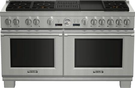 "Thermador PRD606RxSG 60"" PRO Grand Series Dual Fuel Range with Steam,"