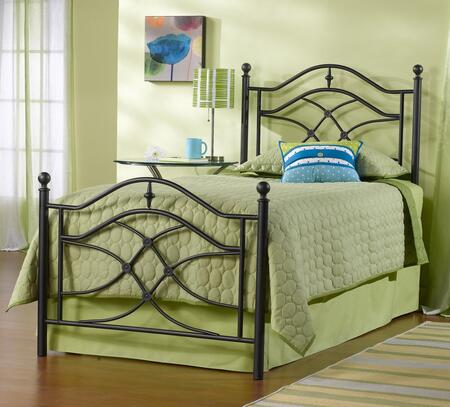 Hillsdale Furniture 1601BR Cole Poster Bed Set with Rails Included, Intricate Castings, Sweeping Scrollwork, Tubular Steel and Cast Aluminum Construction in Black Twinkle Finish