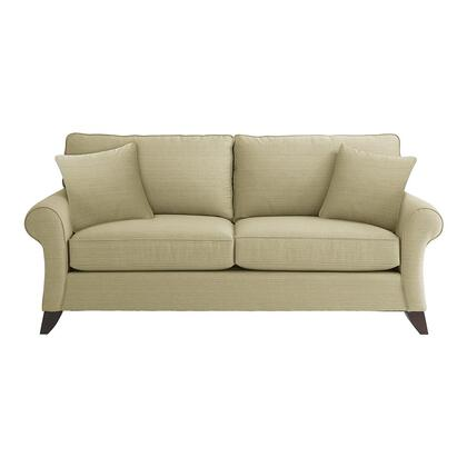 "Bassett Furniture Tyson Collection 3972-62FC/FC116-x 86"" Sofa with Fabric Upholstery, Rolled Sock Arms, Tapered Legs and Contemporary Style in"