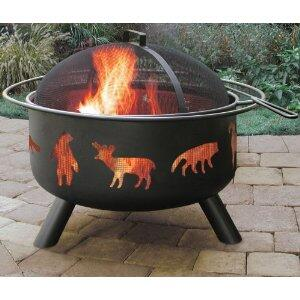 "Landmann 283X7 Big Sky Firepits with Wildlife Pattern, 12.5"" Deep Firebowl, Cooking Grate, Spark Screen and Steel Construction in"