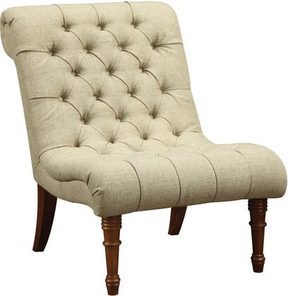 "Coaster Accent Seating 33"" Accent Chair with French Laundry Design, Rolled Back, Button Tufting Detail and Fabric Upholstery in"