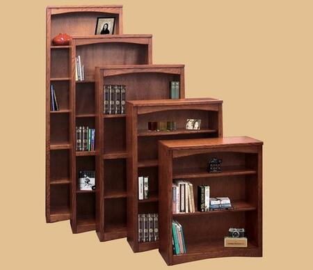 Legends Furniture MM6672RDO Mission Series  4 Shelves Bookcase