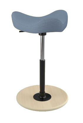 """Varier MOVE 2600 BREEZE FUSION 19"""" - 27"""" Sit-Stand Chair with Breeze Fusion Upholstery,"""