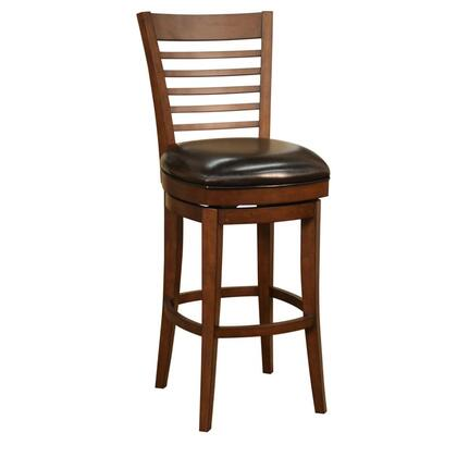 "American Heritage Baxter Series 882MCL11 Stool Finished with Mortise and Tenon Construction, Full Bearing Return Swivel, 3"" Cushion, Fully Integrated Back Support, and Floor Glides in Mocha"