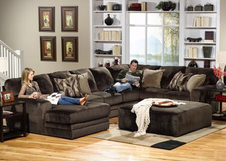 "Jackson Furniture Everest Collection 4377-75-30-72- 163"" 3-Piece Sectional with Left Arm Facing Chaise, Armless Sofa and Right Arm Facing Section with Corner in"