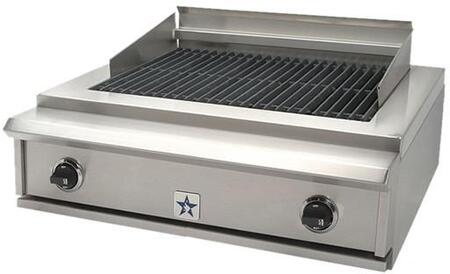 "BlueStar PRZ30IDCBNG 30"" Natural Gas Grill Style Cooktop, in Stainless Steel"