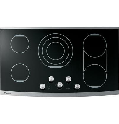 "GE Monogram ZEU36KSKSS 36"" Monogram Series Stainless Steel 5 Element Electric Cooktop"