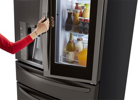 ... LG Black Stainless Steel Hand Opening Door In Door Filled ...