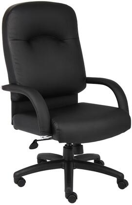"""Boss B740 43"""" High Back Executive Chair with 27"""" Nylon Base, Upright Locking Position, and Adjustable Tilt Tension Control in Black CaressoftPlus Upholstery"""