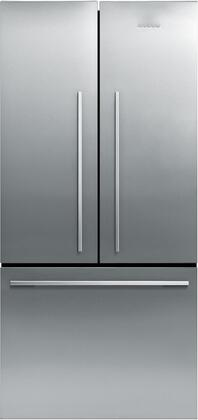 Fisher Paykel RF170ADX1 ActiveSmart Series Counter Depth French Door Refrigerator with 16.9 cu. ft. Total Capacity 3 Glass Shelves