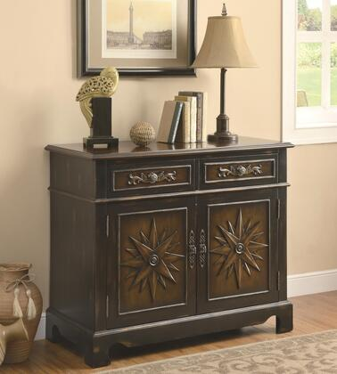 Coaster 950078 Accent Cabinets Series Freestanding Wood 2 Drawers Cabinet