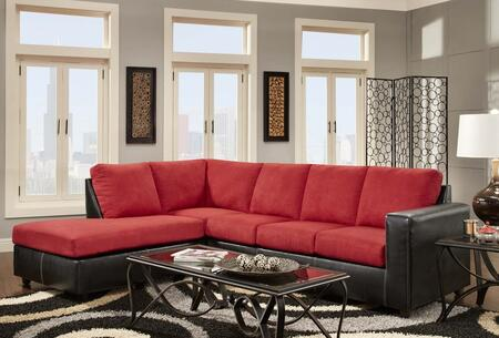 Chelsea Home Furniture 193650SECSRB Hartford Series Sofa and Chaise Fabric Sofa