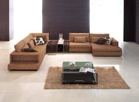 VIG Furniture SE38A  Sofa and Chaise Fabric Sofa