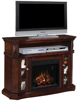 Classic Flame 23MM774XXX Bellemeade Electric Fireplace Media Console with 2 Side Cabinets, Integrated Wire Management, Media Storage and Fluted Details in